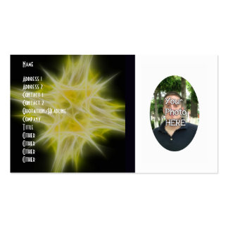 Your Photograph with Fractal Flame Artwork Card Business Card Template