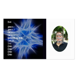 Your Photograph with Fractal Flame Artwork Card Pack Of Standard Business Cards