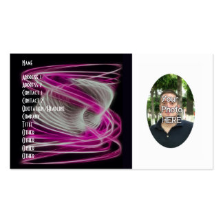 Your Photograph with Fractal Flame Artwork Card Business Cards