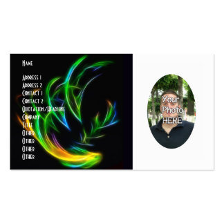 Your Photograph with Fractal Flame Artwork Card Business Card