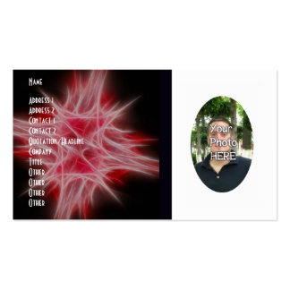 Your Photograph with Fractal Flame Artwork Card Business Card Templates