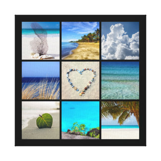 Your Photos Collage Template Canvas Print
