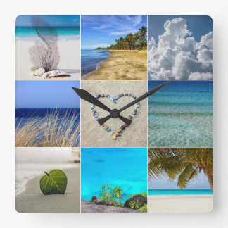 Your Photos Collage Template Clocks