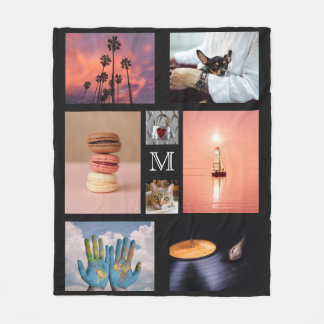 YOUR PHOTOS custom collage template fleece blanket
