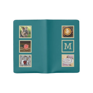 YOUR PHOTOS custom collage template notebooks