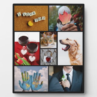 YOUR PHOTOS custom collage template plaque