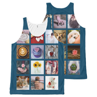 YOUR PHOTOS custom collage template tank top All-Over Print Tank Top