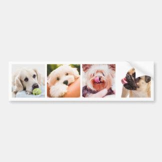 YOUR PHOTOS / Cute Dogs custom bumpersticker Bumper Sticker