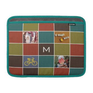 YOUR PHOTOS & MONOGRAM custom MacBook sleeves