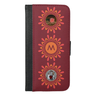 YOUR PHOTOS & MONOGRAM Stylized Sun custom cases