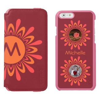 YOUR PHOTOS & MONOGRAM Stylized Sun custom cases Incipio Watson™ iPhone 6 Wallet Case
