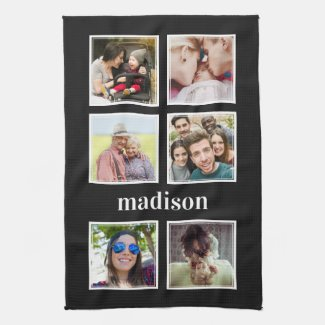 YOUR photos, name & colour kitchen towel