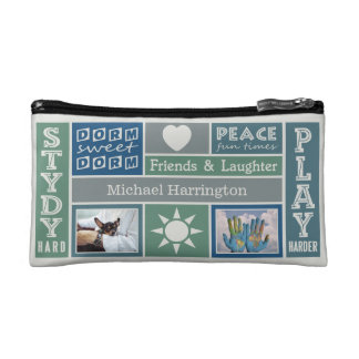 YOUR PHOTOS & NAME custom dorm room accessory bags
