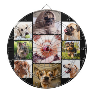 YOUR PHOTOS or cute dogs custom dart board