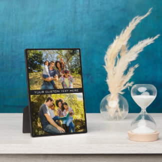 YOUR PHOTOS & TEXT custom plaque