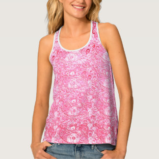 Your Pink Paisley Eyes by MJ Tank Top
