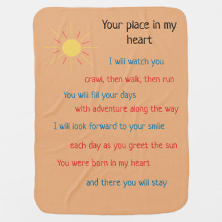 Your place in my heart baby blanket