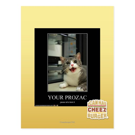 Your Prozac Post Cards