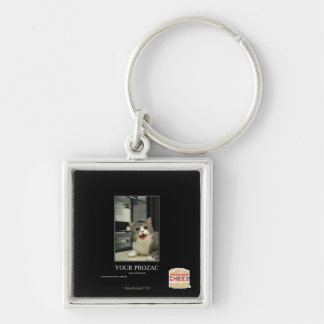 Your Prozac Silver-Colored Square Key Ring