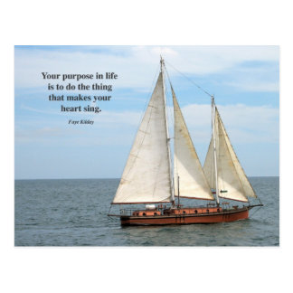 Your Purpose in Life Poem Photo Postcard