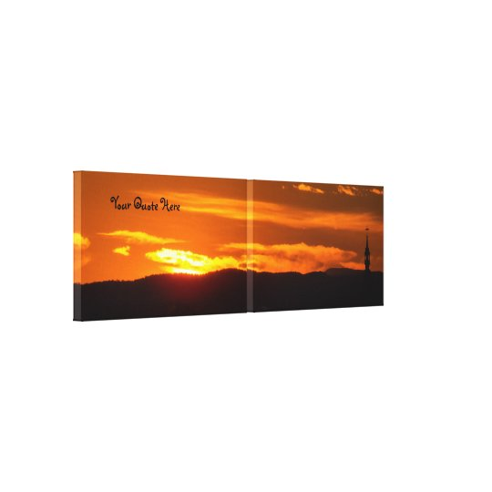 Your Quote Here | Church Sunset Canvas Print
