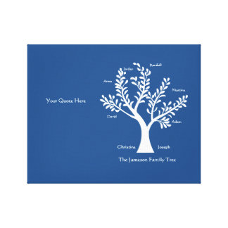 Your Quote Here - Family Tree, Stretched Canvas Print