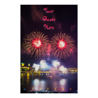 Your Quote Here | Quebec City Fireworks Poster