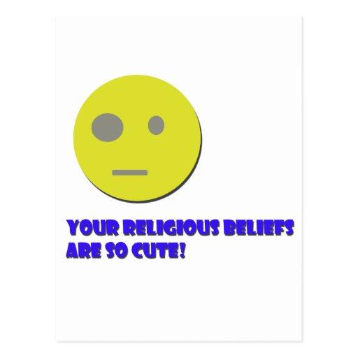 Your Religious Beliefs Postcard