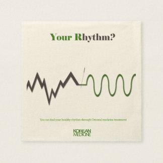 your rhythm? paper serviettes