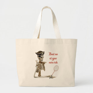 Your Risk Badminton Pirate Tote Bags