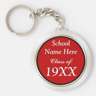 Your School Name, Year, Colors Class Reunion Gifts Basic Round Button Key Ring