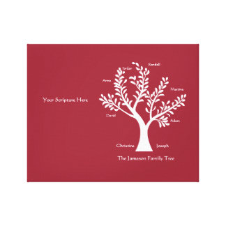 Your Scripture Here - Family Tree, Gallery Wrapped Canvas