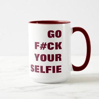 YOUR SELFIE custom monogram mugs