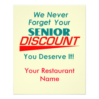 YOUR Senior Discount Flyer