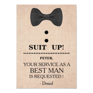 Your Service as a Best man Request Card