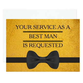 Your Service as a Groomsman Best Man Request Card