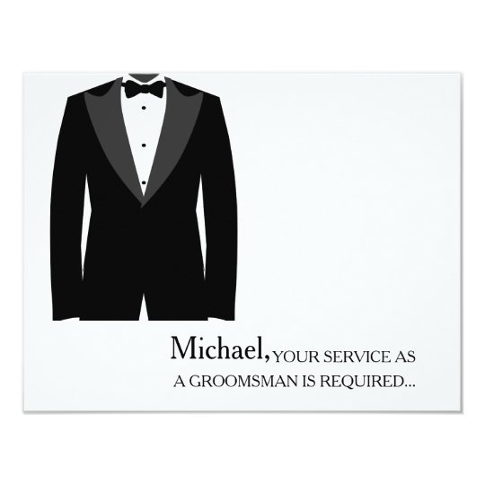 Your Service As A Groomsman Required Personalised Card