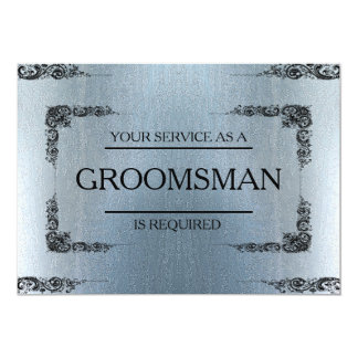 Your Service Is Requested as Groomsman Blur Card