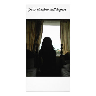 Your shadow still lingers photo greeting card