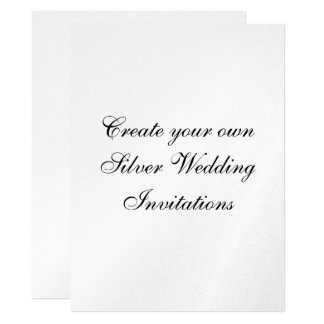 "Your Silver Wedding Invitations  6.5"" x  8.75"""