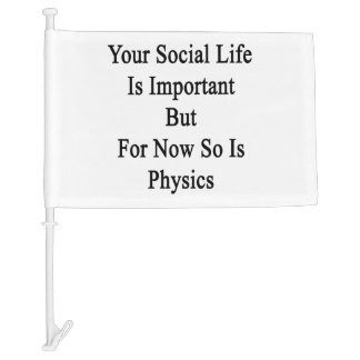 Your Social Life Is Important But For Now So Is Ph Car Flag