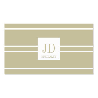Your Specialty Tan Monogram - SPECIAL SALE!!!!!!!! Pack Of Standard Business Cards