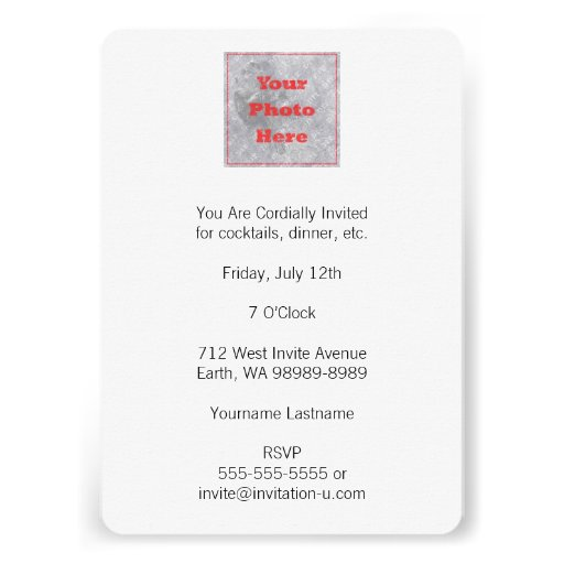 Your Square Photo Do It Yourself Personalized Invites