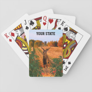 Your State Buck Deer hunting Playing Cards