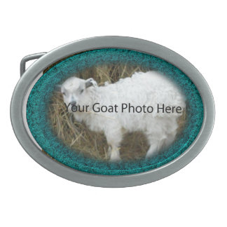 YOUR Teal Goat Photo Here  Belt Buckle