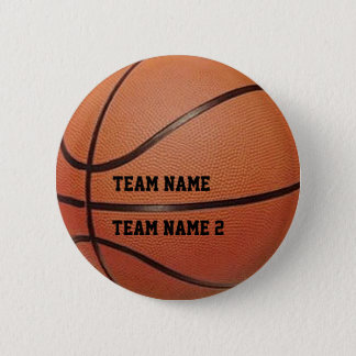 Your Team's Name Basketball Button