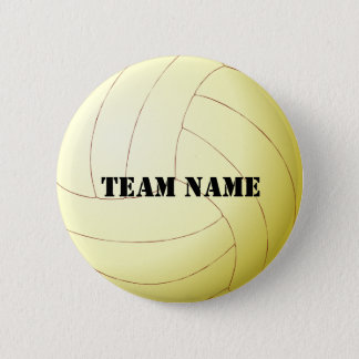 Your Team's Name Volleyball Button