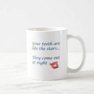your teeth are like the stars basic white mug
