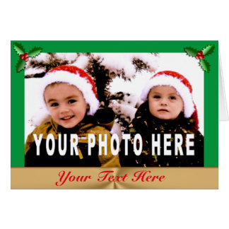 Your Text and PHOTO Christmas Cards INSTRUCTIONS