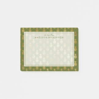 Your Text   Elegant Pineapple Pattern Post-it Notes